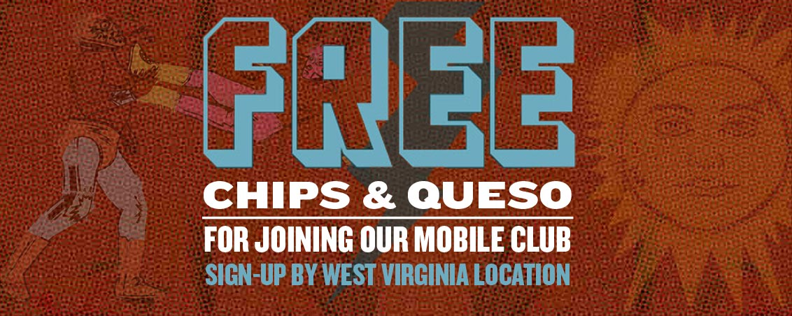 Qdoba West Virginia Mobile Club Sign-Up Free Queso